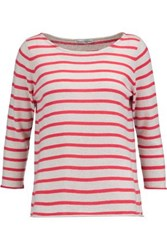 Autumn Cashmere Striped Top Red