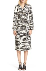 Women's Burberry Prorsum Zebra Print Trench Coat
