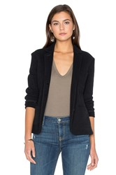 James Perse Cropped French Terry Blazer Black