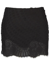 Vanessa Bruno Scalloped Lace Skirt Black