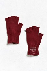 Urban Outfitters Uo Fingerless Knit Glove Maroon