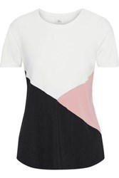 Iris And Ink Woman Color Block Stretch Jersey T Shirt White