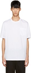 3.1 Phillip Lim White And Blue Dolman T Shirt