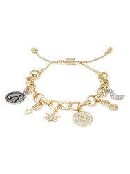Rj Graziano T Initial Adjustable Charm Bracelet Gold