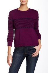 Romeo And Juliet Couture Cropped Crew Neck Sweater Purple
