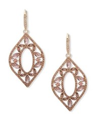 Jenny Packham Pave Crystal Chandelier Earrings Gold