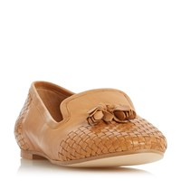 Dune Gentle Woven Loafers Brown
