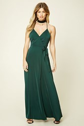 Forever 21 Surplice Front Maxi Dress Hunter Green