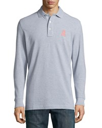 Psycho Bunny Long Sleeve Pima Polo Shirt Gray