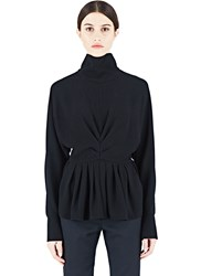 J.W.Anderson J.W. Anderson Ruched High Collar Blouse Black