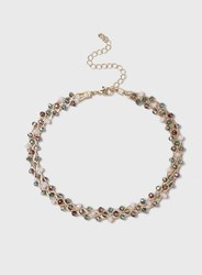 Dorothy Perkins Facet Bead And Wire Choker Pink