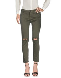 Miss Miss By Valentina Casual Pants Military Green