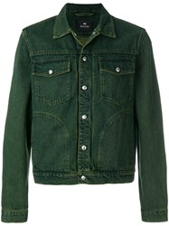 Paul Smith Ps By Casual Denim Jacket Green