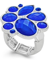 Styleandco. Style And Co. Silver Tone Blue Stone Ring
