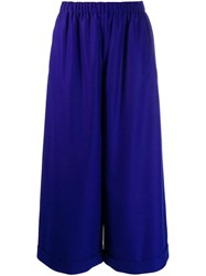 Daniela Gregis High Waisted Wide Trousers Blue
