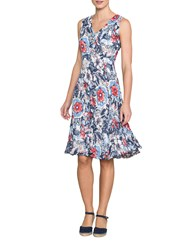 East Lorenna Print Pleat Dress Rouge