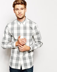 Jack Wills Shirt With Oversized Gingham Check Grey