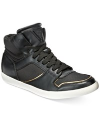 Guess Men's Jumper Mid Top Sneakers Men's Shoes Black