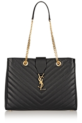 Saint Laurent Monogramme Large Quilted Leather Tote