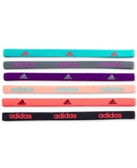 Adidas 6 Pk. Fighter Headbands Vivid Mint Shock Purple Shock Red