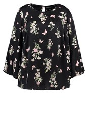 Dorothy Perkins Curve Butterfly Blouse Black Pink Multicoloured