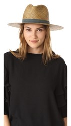Janessa Leone Claudia Short Brimmed Fedora Dark Brown