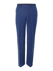 New And Lingwood Balm Birdseye Suit Trousers Blue