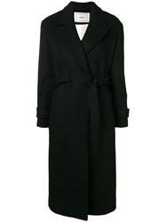 Mauro Grifoni Double Breasted Belted Coat Black