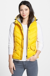 Barbour 'Forland' Hooded Quilted Vest Yellow