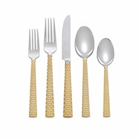Michael Aram Palm Gold 5 Piece Cutlery Set