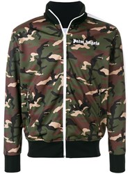 Palm Angels Camouflage Print Zipped Jacket Multicolour