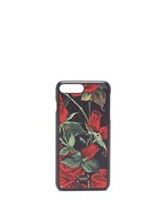 Dolce And Gabbana Iphone 7 8 Rose Print Case Black Red