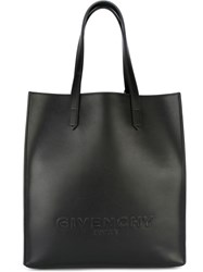 Givenchy Logo Embossed Tote Black