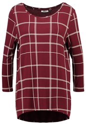 Only Onlwindow Melcos Long Sleeved Top Zinfandel Bordeaux
