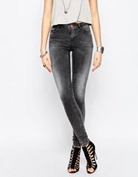 Noisy May Lucy Super Slim Washed Black Jean Dgd 34