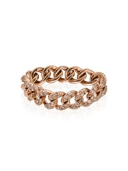 Shay 18Kt Rose Gold Chain Link Ring Metallic