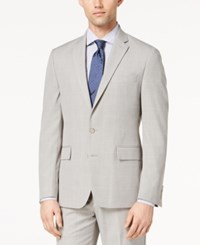 Ryan Seacrest Distinction Men's Ultimate Moves Modern Fit Stretch Light Gray Windowpane Suit Jacket Created For Macy's Grey