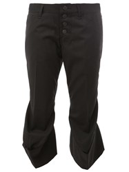 Christopher Nemeth Flared Hem Cropped Trousers Black