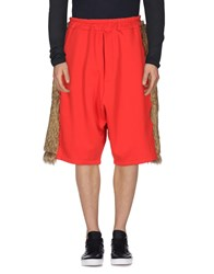 Mnml Couture Trousers Bermuda Shorts Red