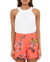 Ted Baker Tropical Oasis Scallop Detail Shorts Orange