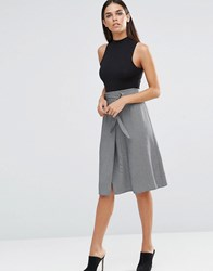 Love Wrap Skirt With D Ring Belt Grey