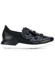Moncler Emy Sneakers Women Leather Polyester Rubber 35 Black