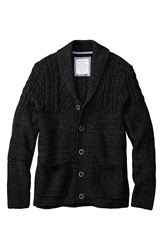 Tommy Bahama 'Campfire' Button Front Shawl Cardigan Big And Tall Black