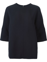 Marni Three Quarter Length Sleeve Top Blue