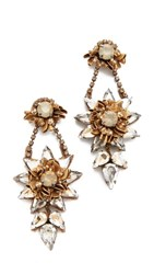 Deepa Gurnani By Yathi Earrings Gold Sand