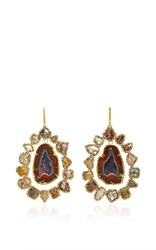 Kimberly Mcdonald Geode And Diamond Slice Earrings Blue