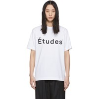 Etudes Studio White Wonder Logo T Shirt