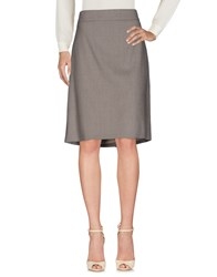Aigner Knee Length Skirts Light Grey