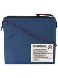 Neighborhood Patch Shoulder Bag Blue