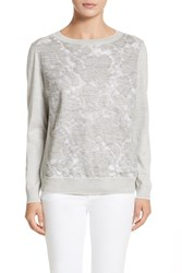 Lafayette 148 New York Aralynn Top Grey Heather Multi